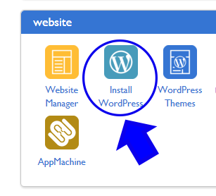 Click on the WordPress Icon