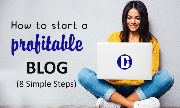 8 Simple steps to start a profitable blog online