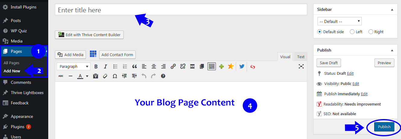 Writing Your Blog Page Content