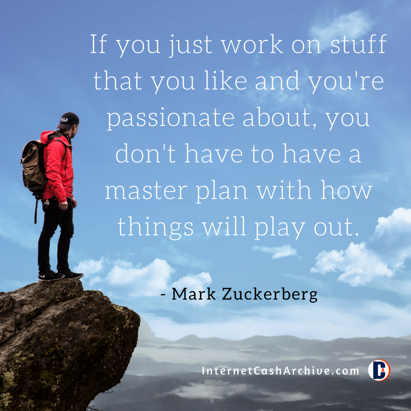 f you just work on stuff that you like quote - Mark Zuckerberg